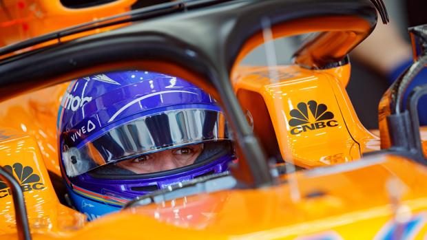 Fernando Alonso, en el McLaren