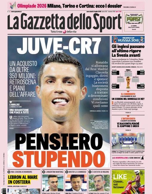 El periódico romano «Corriere dello Sport» apostó por la expresión italiana  «Mandrakata» 9cd85e943719a