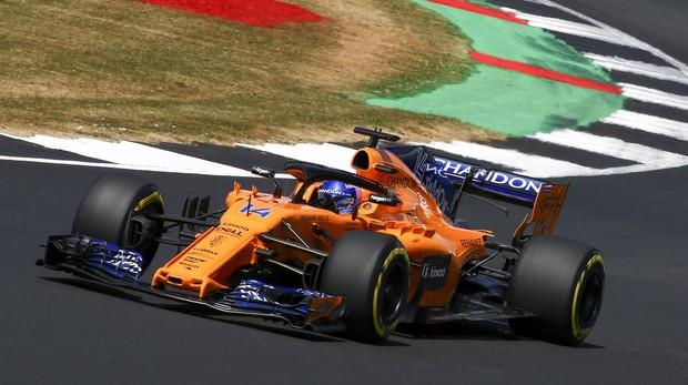 Fernando Alonso, durante el GP de Gran Bretaña