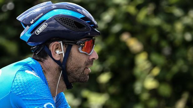Alejandro Valverde, corredor del Movistar