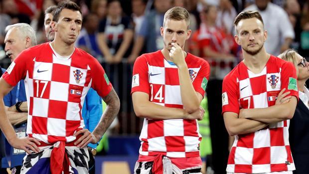Los croatas, tras el partido