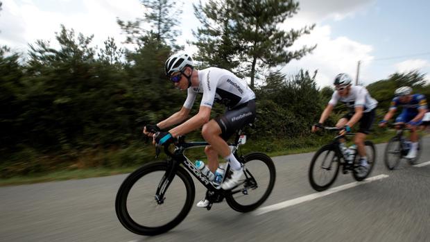 Froome (Sky) durante la cuarta etapa del Tour de Francia