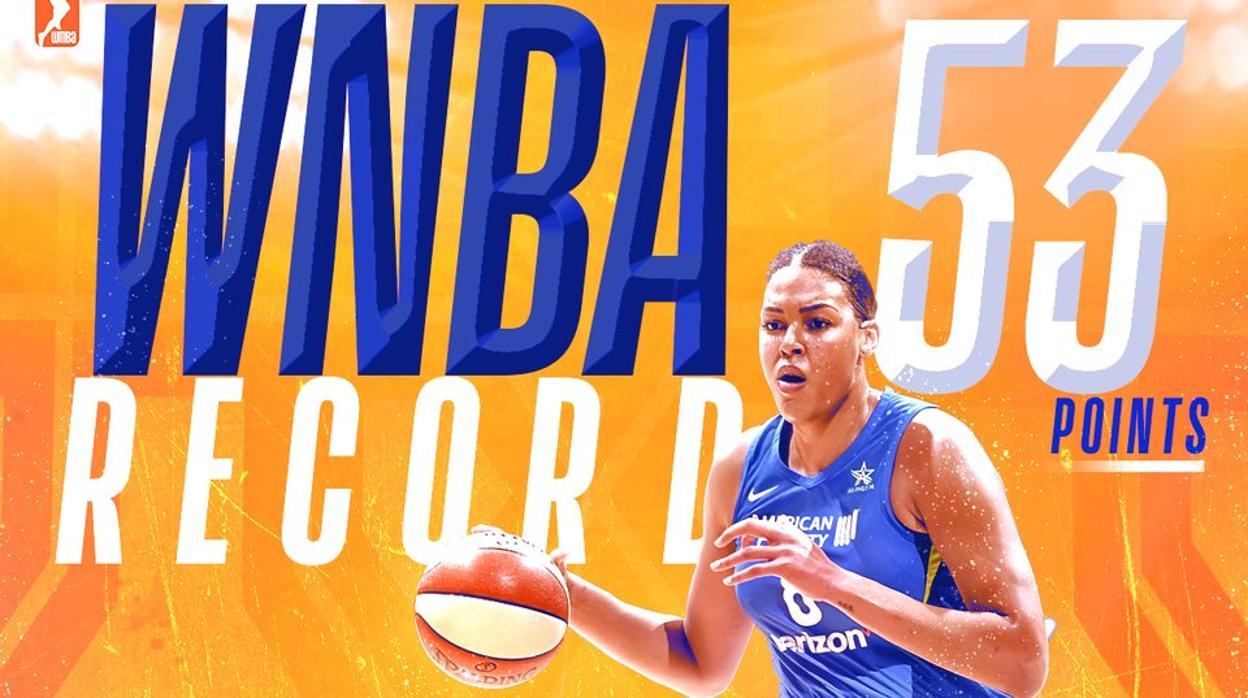 Liz Cambage rompe el récord de anotación en la WNBA