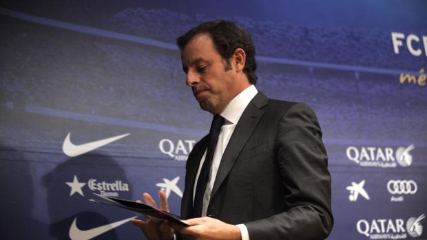 Sandro Rosell en su etapa cpmo presidente del Barcelona