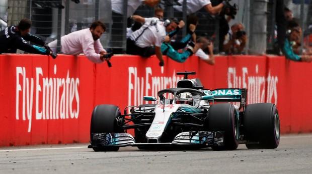 Lewis Hamilton durante el Gran Premio de Alemania