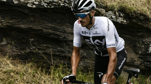 Moscon, durante la decimoquinta etapa del Tour de Fancia