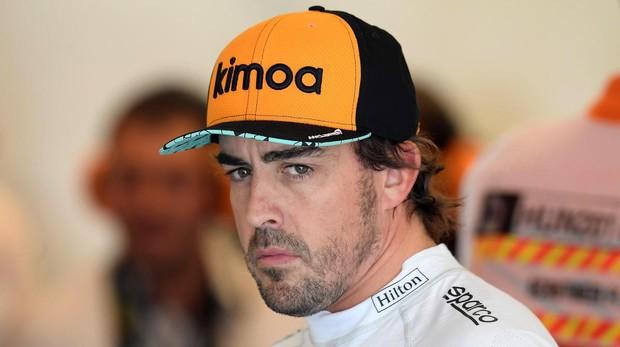 Fernando Alonso durante la sesión de entrenamientos libres del Gran Premio de Hungría