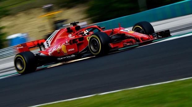 Vettel en los entrenamiento del Gran Premio de Hungría