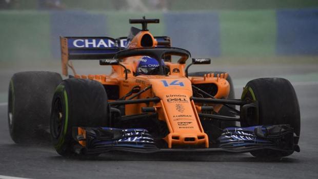 Fernando Alonso durante la clasificación del Gran Premio de Hungría