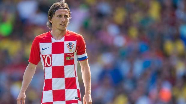 Luka Modric, capitán de la selección croata de fútbol, durante el Mundial de Rusia