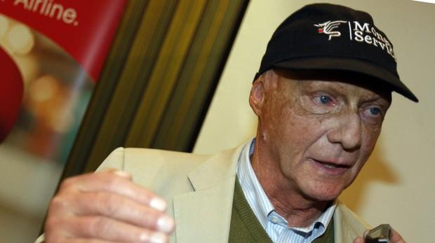 Niki Lauda, durante una rueda de prensa