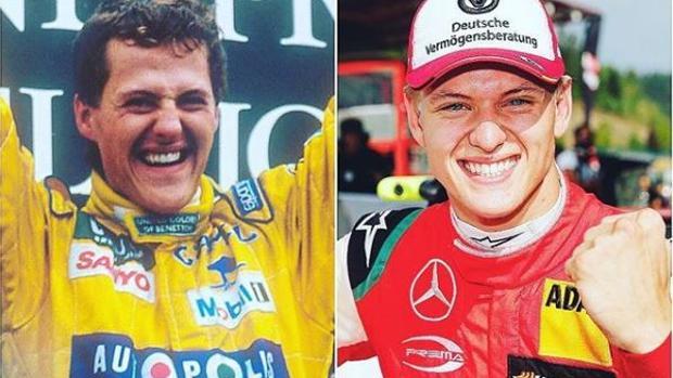 Michael Schumacher y su hijo Mick