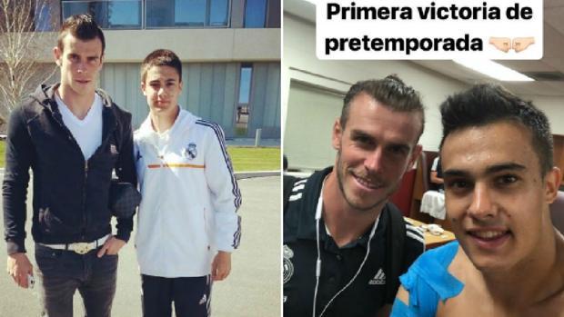 Sergio Reguilón y Gareth Bale en 2014 y la semana pasada