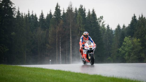 Día lluvioso en el Gran Premio de Austria