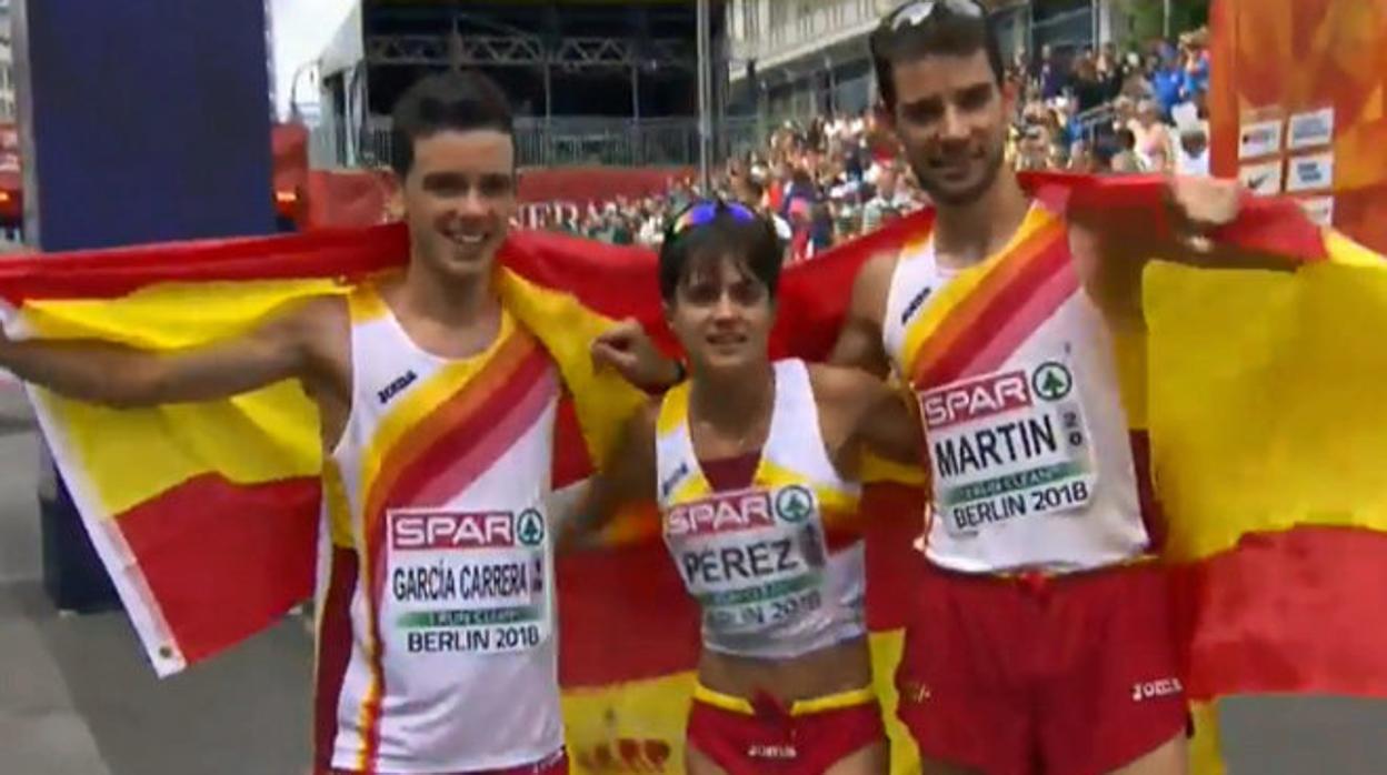 María Pérez, medalla de oro en los 20 kilómetros marcha