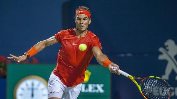 Rafa Nadal en el partido de semifinales del Masters 1000 de Toronro contra el ruso Karen Khachanov