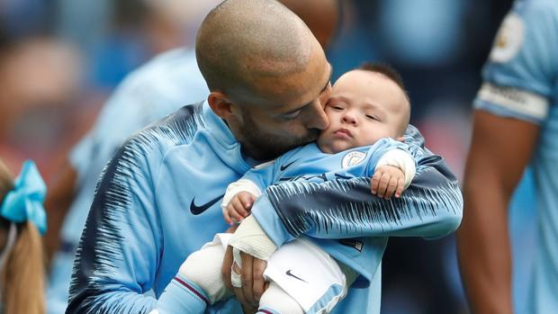 David Silva y su hijo Mateo