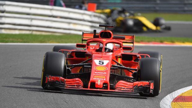 Vettel, en Bélgica