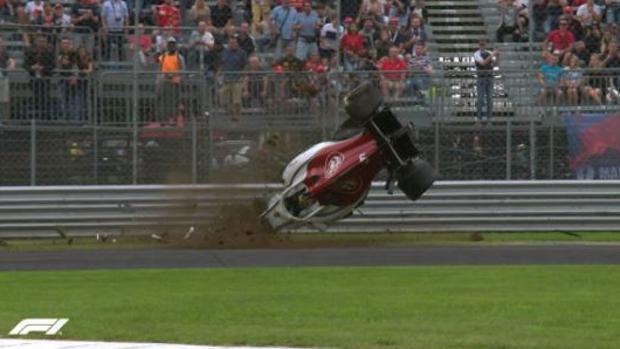 El accidente del sueco Marcus Ericsson, piloto de Sauber