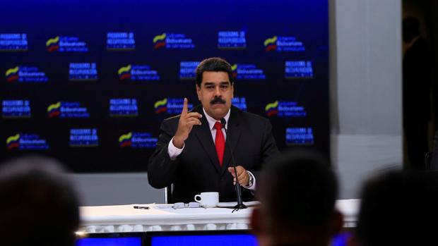 El presidente de Venezuela, Nicolás Maduro, durante una conferencia con empresarios de su país