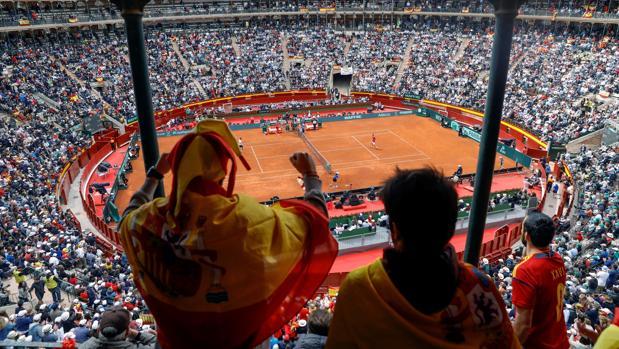Una imagen de la eliminatoria España-Alemania del pasado abril en Valencia