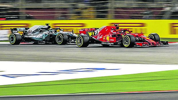 Un instante de la carrera de Fórmula 1