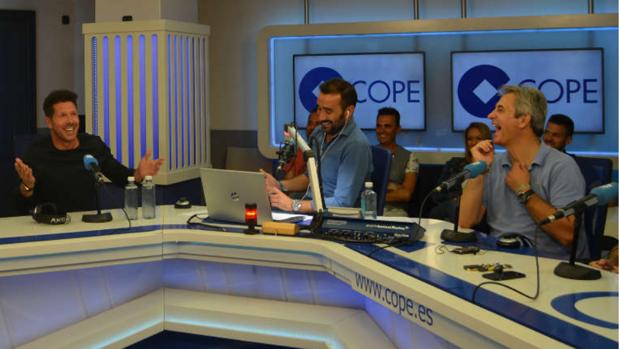 Diego Simeone, durente su entrevista en 'El Partidazo de Cope'