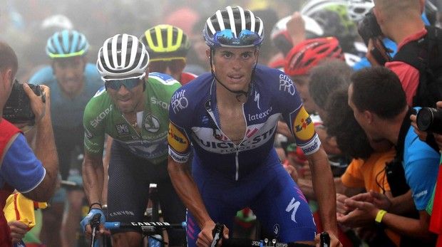 El ciclista español Enric Mas, durante la decimoséptima etapa de la Vuelta a España