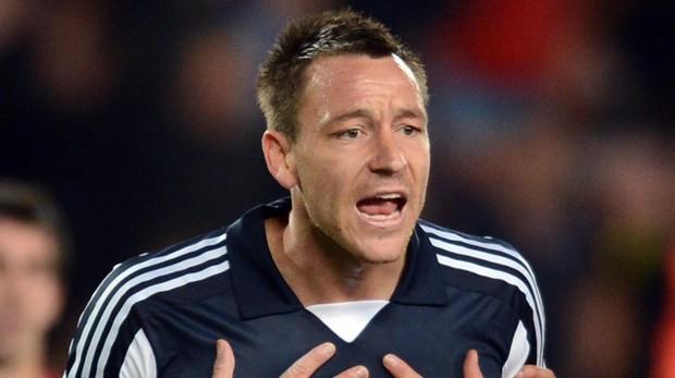 John Terry, durante un encuentro con el Chelsea en la Champions League 2011-2012