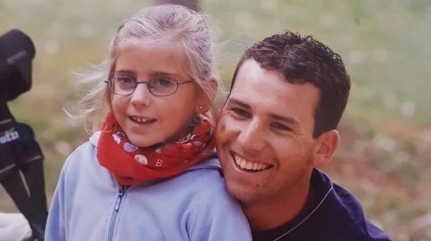 Sergio García con Celia Barquín de niña