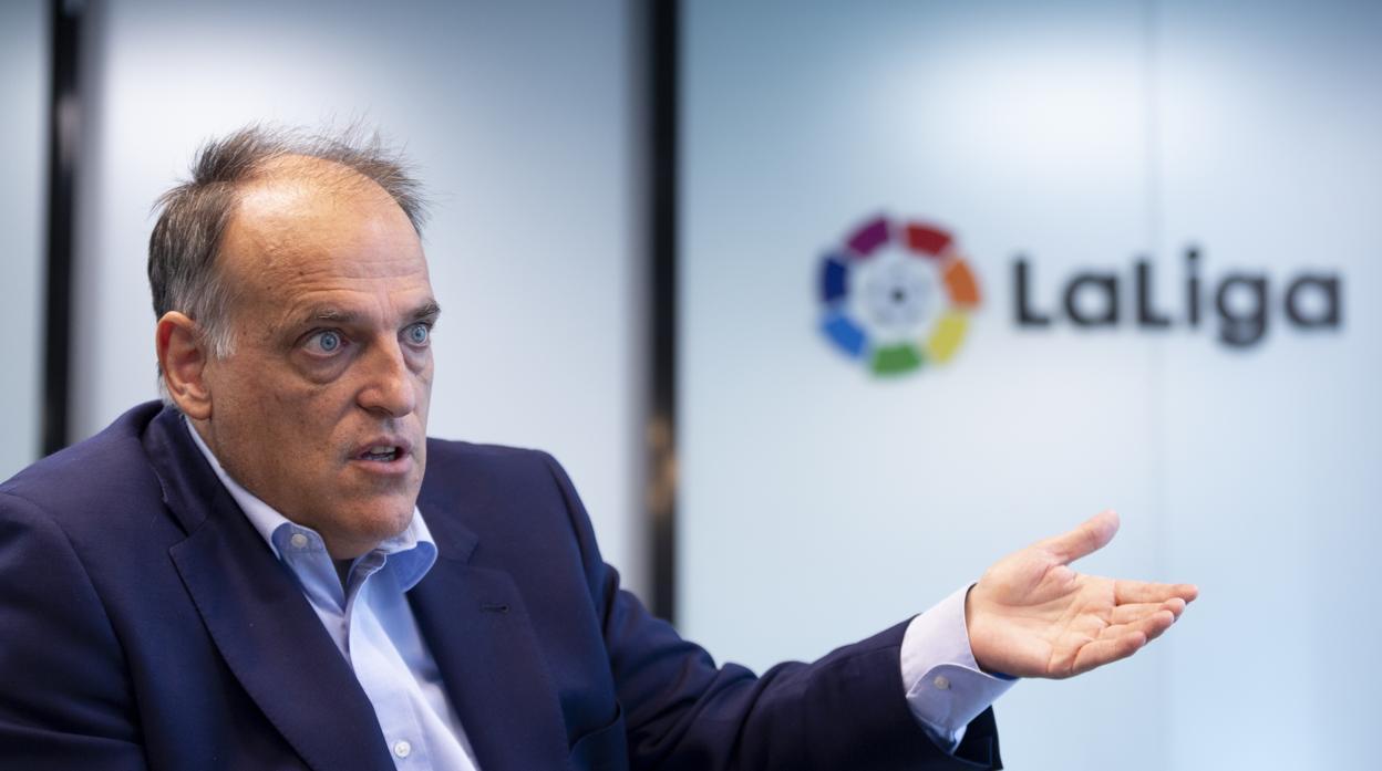 Javier Tebas, optimista: «La Federación no nos han dicho que no»