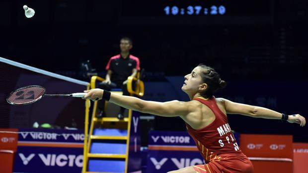 Carolina Marín durante la final del Abierto de China