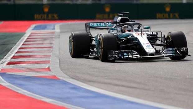 Hamilton, durante el GP de Rusia