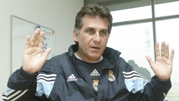 Carlos Queiroz durante su etapa en el Real Madrid
