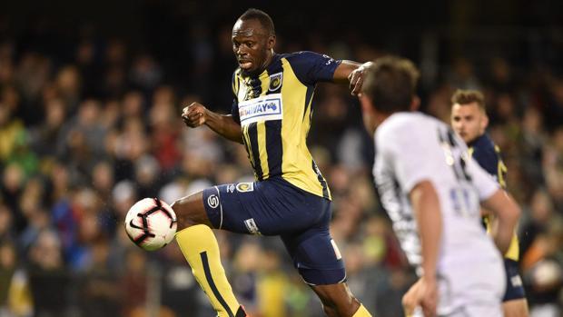 Bolt, durante el partido