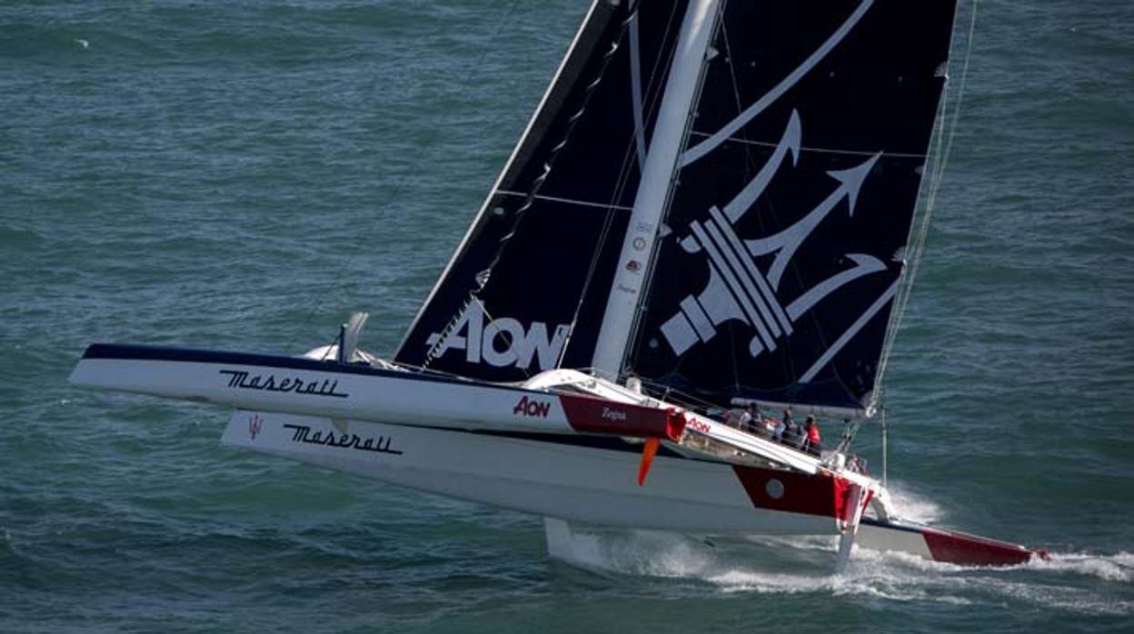 El «Maserati», de Giovanni Soldini participará en la Middle Sea Race