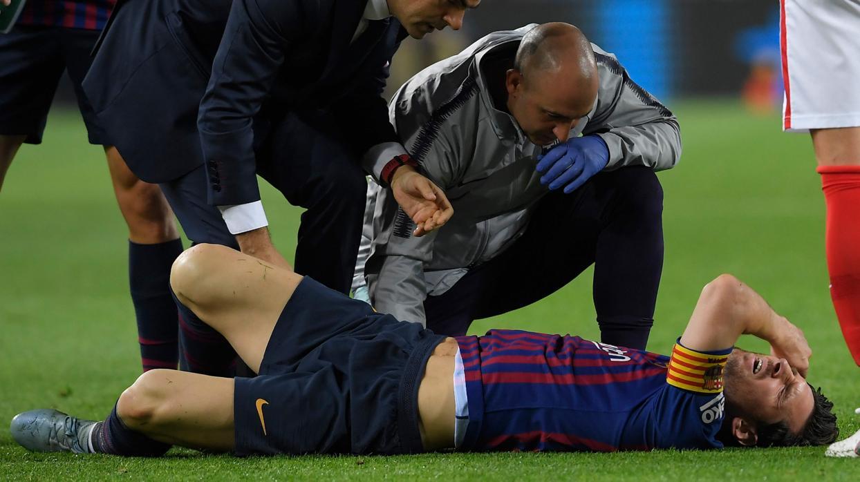 Alarma en el Barcelona por la lesión de Messi