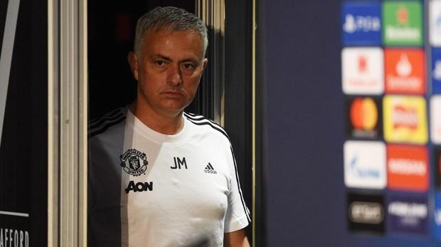 Mourinho, en la rueda de prensa previa al partido de Champions League entre el Manchester United y la Juventus