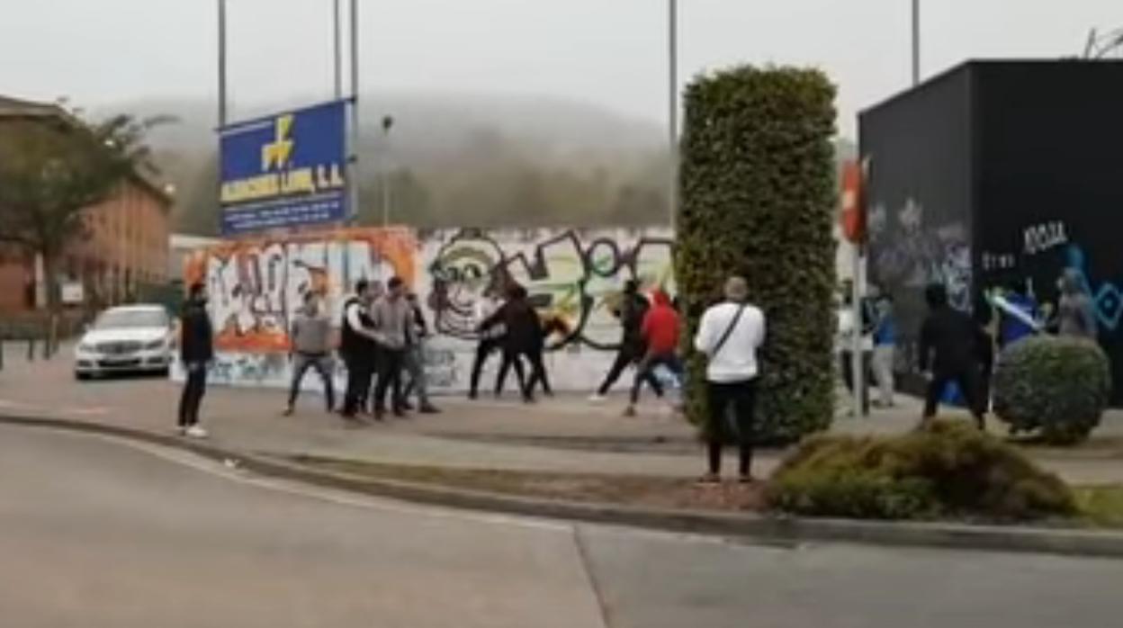 Pelea entre ultras de la Gimnástica Torrelavega y la UD Logroñés