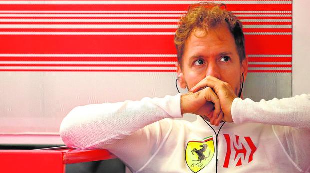 Sebastian Vettel, en el autódromo Hermanos Rodríguez de México