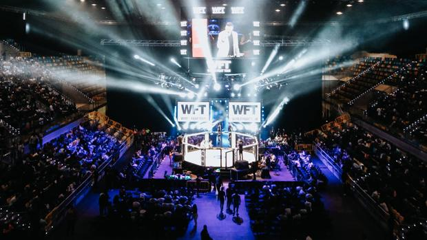 El juego de luces cobra suma importancia en las veladas de World Fight Tour