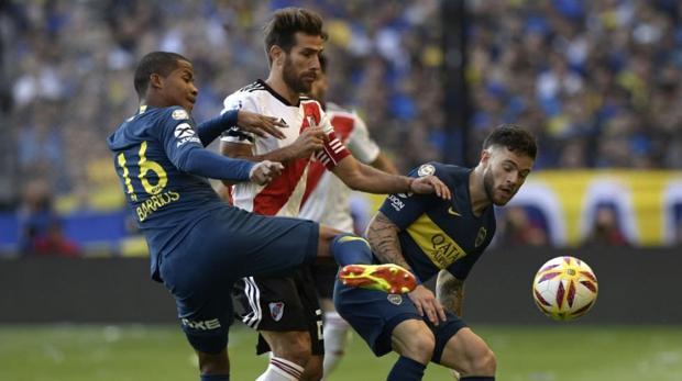 Encuentro entre Boca Juniors y River en el campeonato argentino