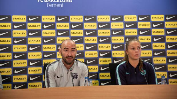 Fran Sánchez y Lieke Martens durante una rueda de prensa