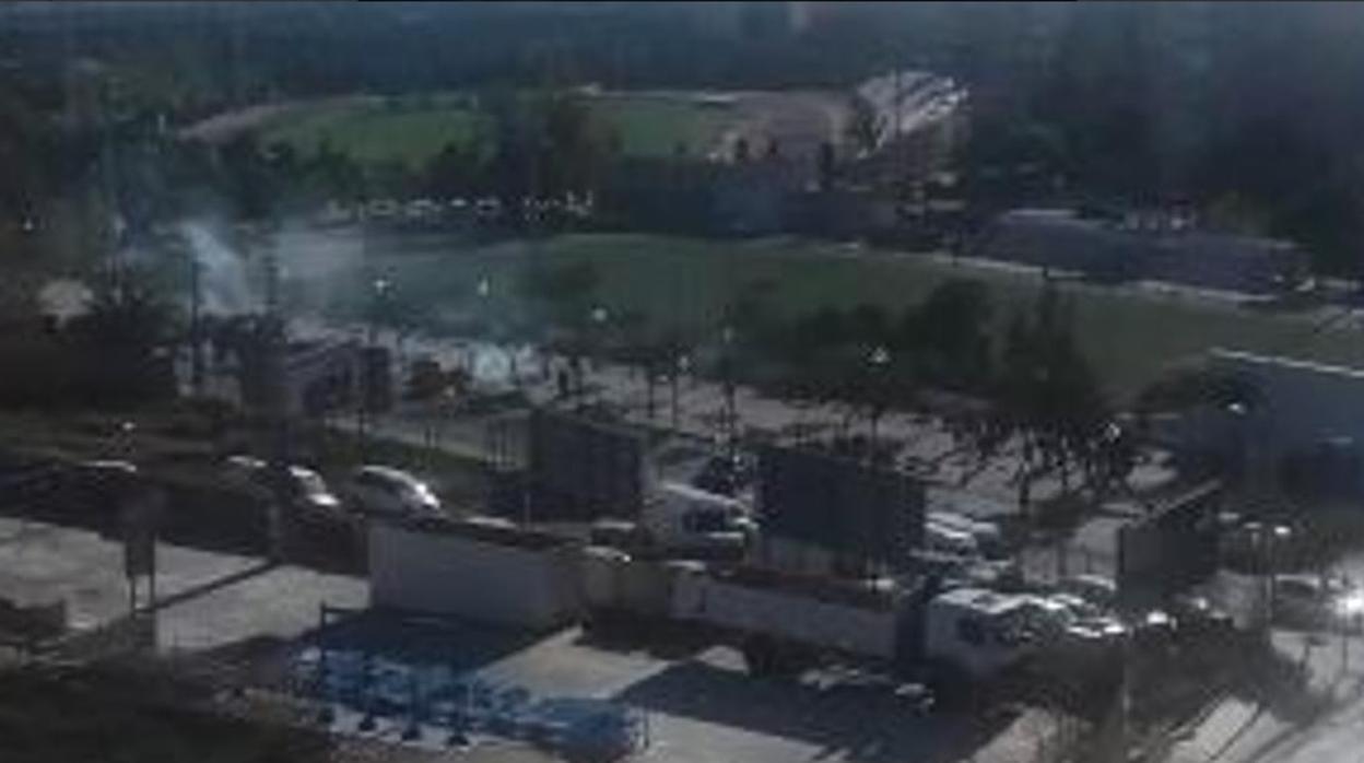 La Policía dispara al aire para disolver una pelea entre hinchas del Hércules y del Castellón