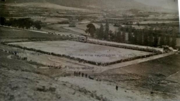 Inauguración del estadio de Merkatondoa, en Estella