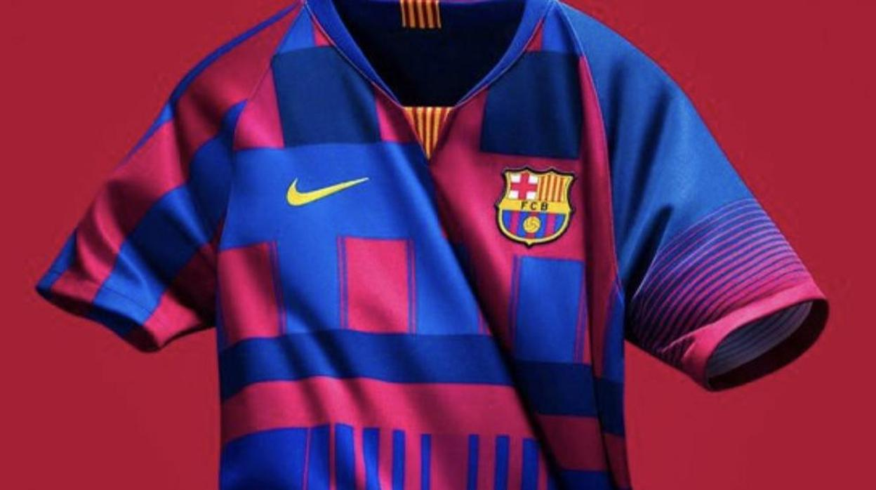 Popurrí azulgrana para la camiseta conmemorativa del Barcelona