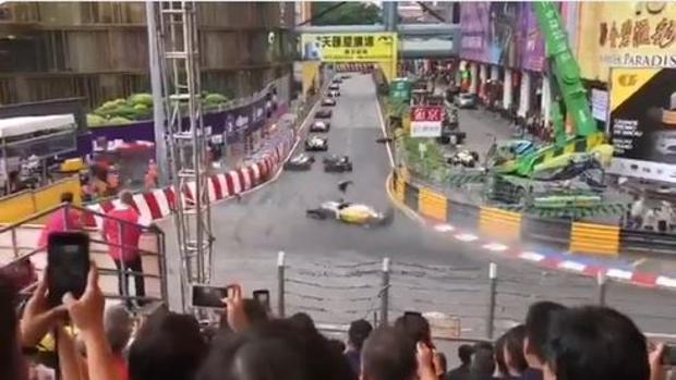 La alemana Sophia Floersch sobrevive a un dramático accidente en Macao