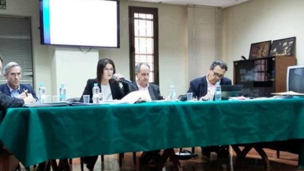 Maertínez y González Devesa con la presidenta Casanueva