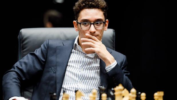 Fabiano Caruana, en la novena partida del Mundial de Ajedrez