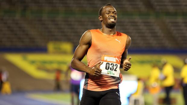Bolt, en una prueba de velocidad en Jamaica de 2016